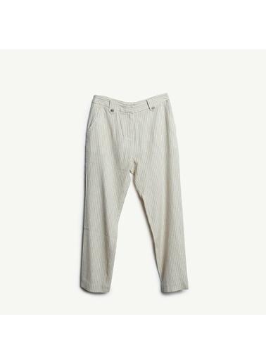Yargıcı Çizgili Cigarette Pantolon Renkli